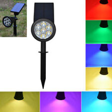 Upgraded RGB waterproof Solar Lights LED Floodlight Outdoor Yard Garden lamp