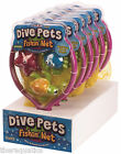 DIVE PETS FISHIN' NET Swim Class Pool Game Summer Fun Party Dive All Ages PDPF-1