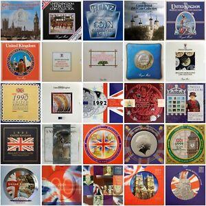 Royal Mint Brilliant Uncirculated BU BUNC Coin Annual Year Set 1982-2008 Gift