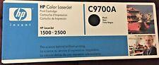 HP OEM Genuine C9700A Color LaserJet 1500 2500 Toner Cartridge BLACK