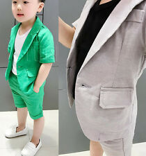 2Pcs Boys Suit, Boys Shorts, Page Boy Suits, boys Blazer jacket Shorts outfits
