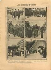 Police Place de la République /Kiosque Place de l'Opéra Paris 1906 ILLUSTRATION