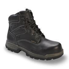 "Wolverine Men's Stratus 6"" Soft Toe Waterproof Work Boot Extra Wide Black"