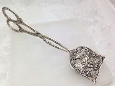 Vintage 800 Sterling Silver Scissor Serving Tong Cake Pie 1950's  Collectible
