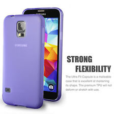 Matte Back Purple Flexible TPU Case for Samsung Galaxy S5 - Ultra Thin 2014 NEW