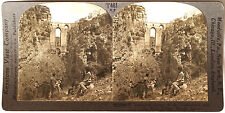 Keystone Stereoview of the Gorge & New Bridge, Ronda, SPAIN from 1930's T600 Set