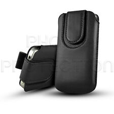 MAGNET BUTTON LEATHER PULL TAB SKIN CASE COVER POUCH FOR VARIOUS MOBILE PHONES