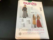 Burda Style Pattern 7185 Ms Skirt in 3 Lengths w/Pleat & Kilt Variations Sz 6-18