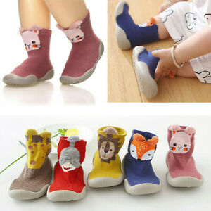 Kids Baby Girl Boys Toddler Anti-slip Slippers Socks Cotton Shoes Winter Warm