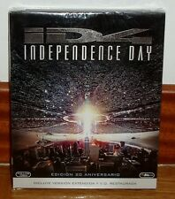 INDEPENDENCE DAY-20º ANIVERSARIO-2 BLU-RAY-EXTENDIDA-RESTAURADA-NUEVO-NEW-ACCION