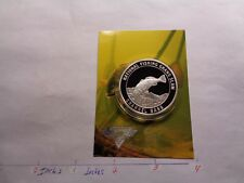 Channel Bass Fish National Fishing Grand Slam 999 Silver Coin Info Card Sharp #C