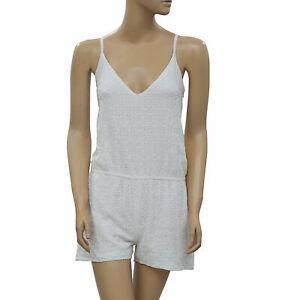 Anthropologie Eyelet Embroidered Romper Dress Playsuit White Boho XS New 223296