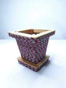 Wooden Handmade Flower Vase or Serviette Holder for Home & Room Decoration NEW