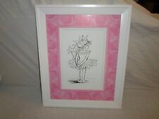 Ballerina Princess Pink Wall Art Decoration *Girl Bedroom* Sketch Print Picture