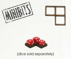 Wargames Hit Marker MDF Dice Frames - Corner Frames - Various Sizes