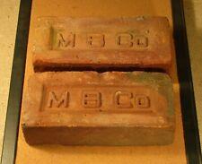 Vintage bricks Montowese Brick CO bricks