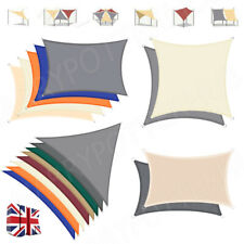 More details for uk outdoor shade sail patio suncreen awning garden sun canopy 98% uv block new.