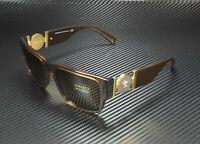 Versace Sunglasses VE4369 50283G Transparent Brown Frame W/ Light Brown Lens NEW