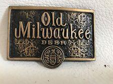Old Milwaukee beer Brass Belt Buckel