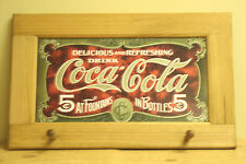 Coca Cola Coke Sign Vintage Style Drink Coat Key Rack Wall Hanging Decor W6
