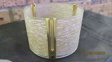 Authentic Eames Era/Retro hobnail glass/brass lamp shade
