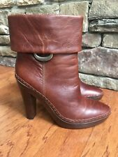 G Series by Cole Haan Womens Sz 9.5 Leather NikeAir Cuffed Ankle Boots w/ Heels