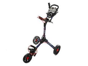 Bag Boy Nitron Auto-Open Push & Pull Cart Navy/Red 3 Wheel Trolley
