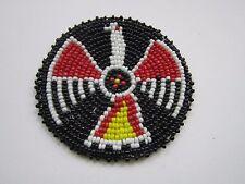 "Beaded Thunderbird Rosette 3"" Leather Sewing Regalia Crafting Native Design 9A"