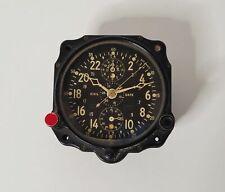 1943 Jaeger BU Aero WWII Navy Civil Date Aircraft Clock 13 Jewels 8 Day