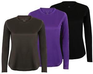 Long Sleeve T Shirt Base Layer Top Active Wear Gym Running Sports Tee Shirt