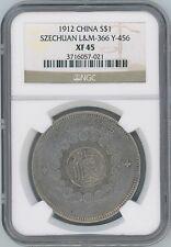 1912 China Y#456 SZECHUAN Silver Dollar NGC XF45
