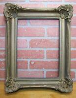 Antique Decorative Arts Picture Mirror Artwork Wooden Frame Deep Ornate Details
