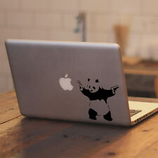 "Banksy Panda with Guns for Macbook 11"" 13"" 15"" 17"" Laptop Vinyl Decal Sticker"