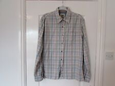 USED MENS SHIRT BY FAT FACE, SIZE M, CHEST 44 IN, LENGTH 30 INCHES