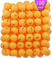 New listing MAPOL 100 Counts 3-Star Orange Practice Ping Pong Balls Advanced Table Tennis