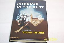 INTRUDER IN THE DUST by William Faulkner hardcover W/jacket USA 1948 1st Edition