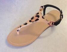 Suede Animal Print Sandals & Flip Flops for Women