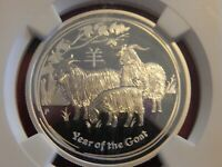 2015-P 1/2 oz. 50 Cents Australia Year of the Goat Early Releases NGC PF70 UC