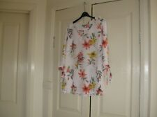 Ladies Top Design Suzannegrae  Size 10 3/4  Sleeves White with Different Colours