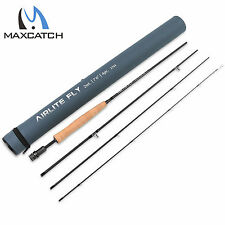2WT 7'6'' 4Pcs Fly Fishing Rods Light Weight  Medium-Fast Graphite Fly Rod Tube