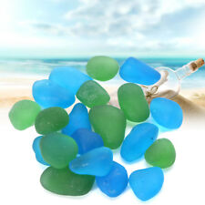 Sea Beach Glass Beads Mixed Colors Bulk Blue Green Jewelry Pendant Decor  AU1