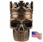3 Piece Skull Metal Alloy Tobacco Spice Grinder Crusher USA Seller - Bronze photo