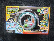 tmnt 2006 fast forward Rare Steel Wheel - sealed MIB nice