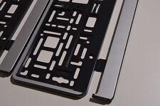 2 x Silber MATT Kennzeichenhalter in Chrom Optik Kennzeichenrahmen  Halter Neu