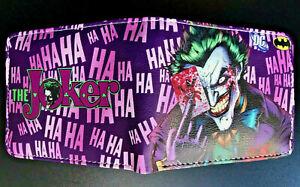 The Joker Wallet Purse ID DC Comics Superhero Villain Batman Harley Quinn Gaming