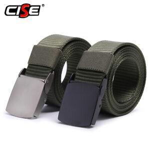 Men Outdoor HuntingTactical Belt Military Buckle Waist Metal Buckle EDC
