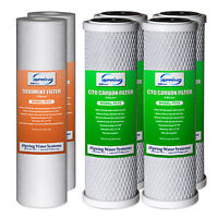 iSpring Reverse Osmosis Replacement Filter-2 Sediment Filter+4 CTO Carbon Block