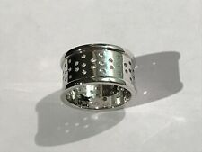 New NORTHSKULL LONDON Rhodium Plated Perforated Men's Ring Size S1/2