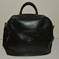 Vintage Black Vinyl PULLMAN Luggage Duffle Doctor Bag Style Rare