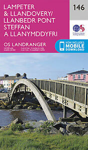 Lampeter & Llandovery Landranger Map 146 Ordnance Survey Latest